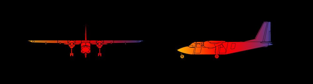 Britten Norman Islander BN2A Twin Engine 9 passengers