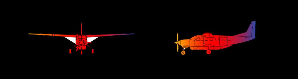 Cessna Caravan C208 Turboprop Single Engine  12 passengers