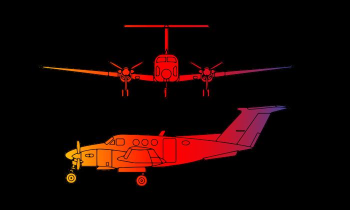 King Air F90 Turboprop Twin Engine 7 passengers
