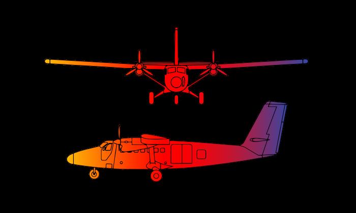 De Havilland Canada Twin Otter DHC-6  Turboprop Twin Engine 18 passengers