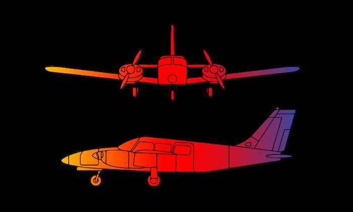 Piper Seneca PA34 Twin Engine 5 passengers